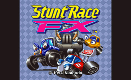 Stunt Race FX Title Screen