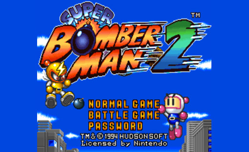 Super Bomberman 2 Title Screen