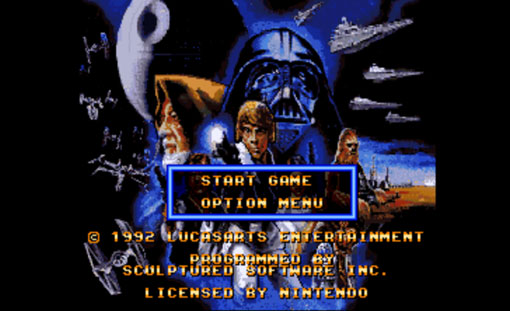 Super Star Wars Title Screen