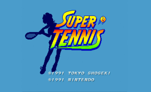Super Tennis Title Screen