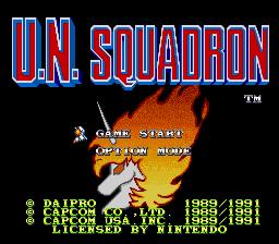 U.N. Squadron (U)