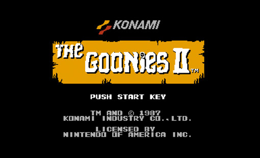 The Goonies II Title Screen