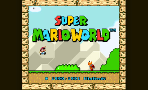 Super Mario World Title Screen