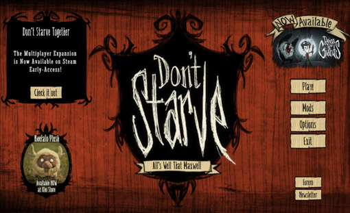 Don't Starve Title Screen
