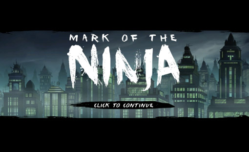 Mark of the Ninja Title Screen