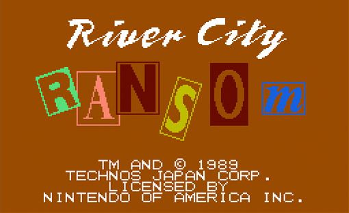 River City Ransom Title Screen