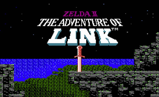 Zelda2 Title Screen