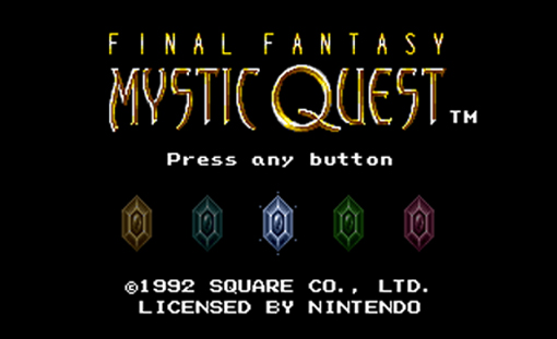Mystic Quest Title Screen