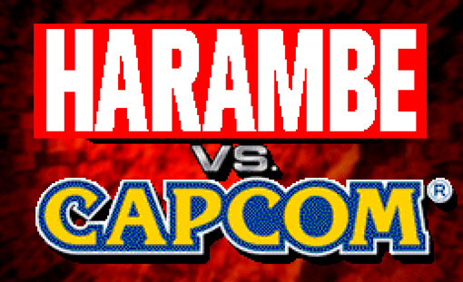 Harambe Vs. Capcom title screen